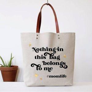 Hashtag Mom Life tote bag